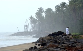 Walls can't keep out the sea in Kerala