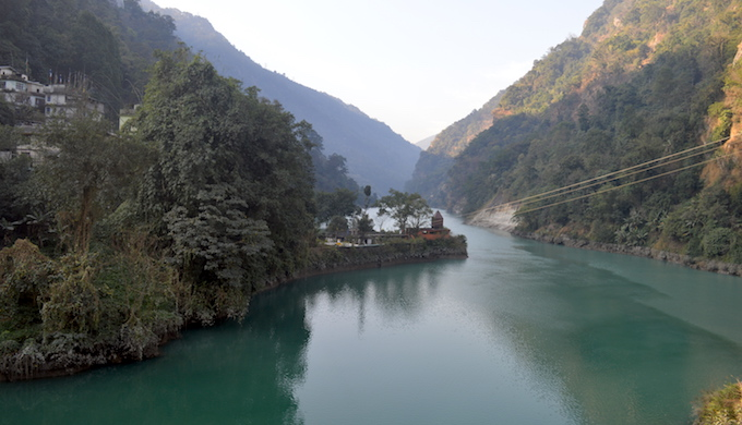 A small dam on the Teesta in Sikkim. (Photo by Athar Parvaiz)