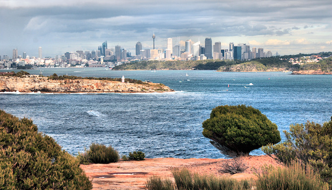 A view of Sydney, which is reeling under a heat wave. (Photo by Brian Yap)