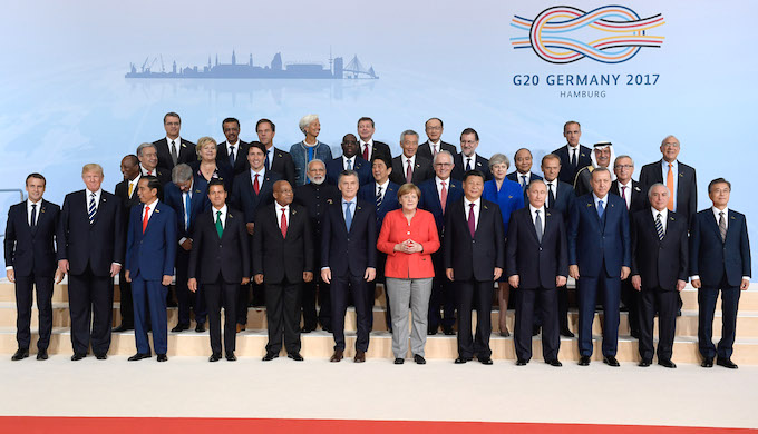 Leaders of the G20 countries gathered at Hamburg for their annual meeting. (Photo by Bundesregierung / Bergmann)