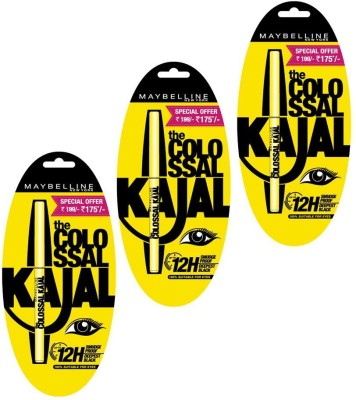 Snapdeal – Buy Maybelline Colossal 12H Black Kajal Pack Of 20 Worth Rs 2200 At Rs 979 Only