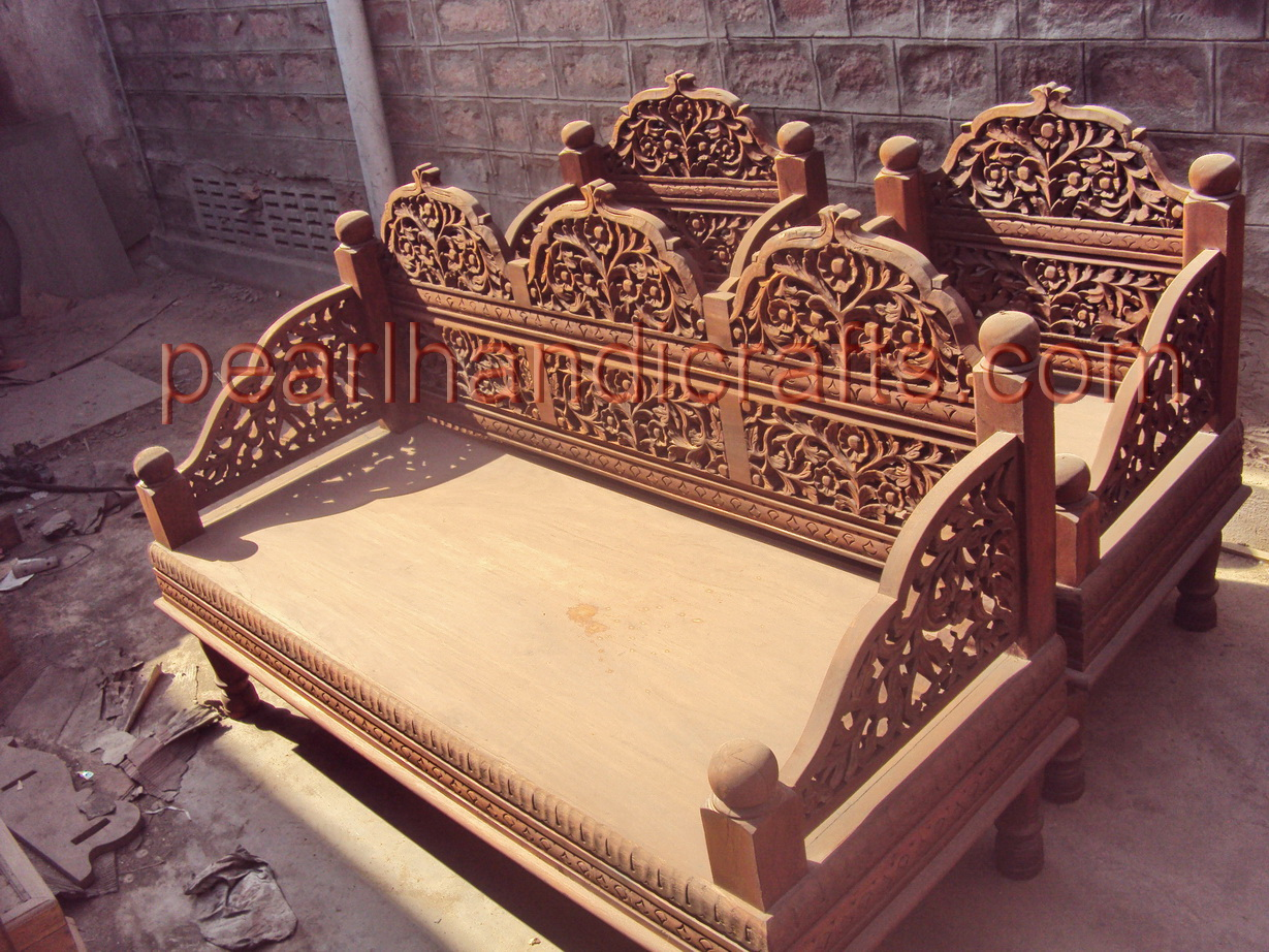 Sofa Set Furniture Diwan Sheesham Rose Wood Carved Sofa Set Traditional Living
