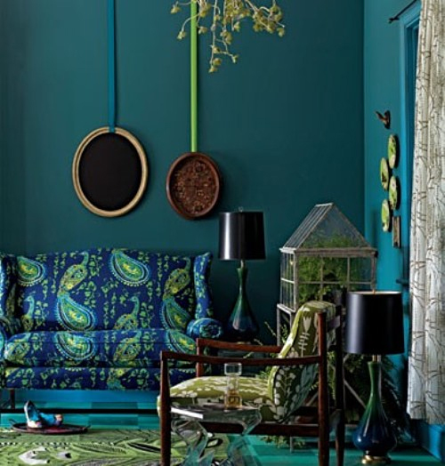 Teal Color Room by Anthropologie