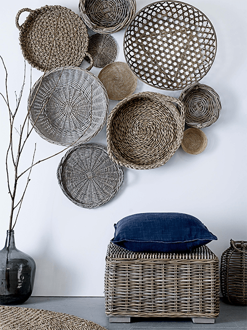 Baskets on Wall via Bloomingville