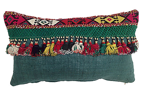 Tribal Tassel Pillow from One Kings Lane