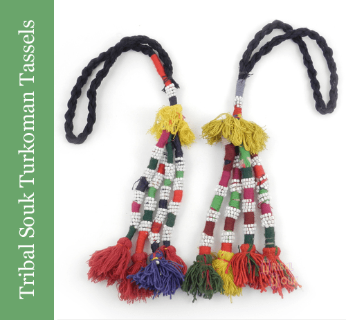 Turkomen Tassels from Tribal Souk