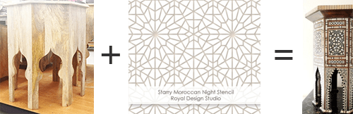 Paint a Moroccan Inlaid Mother of Pearl Table