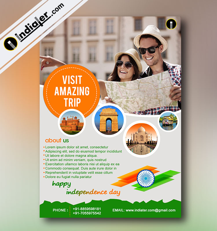 Tours and Travel Independence Day Promotion Flyer - Indiater