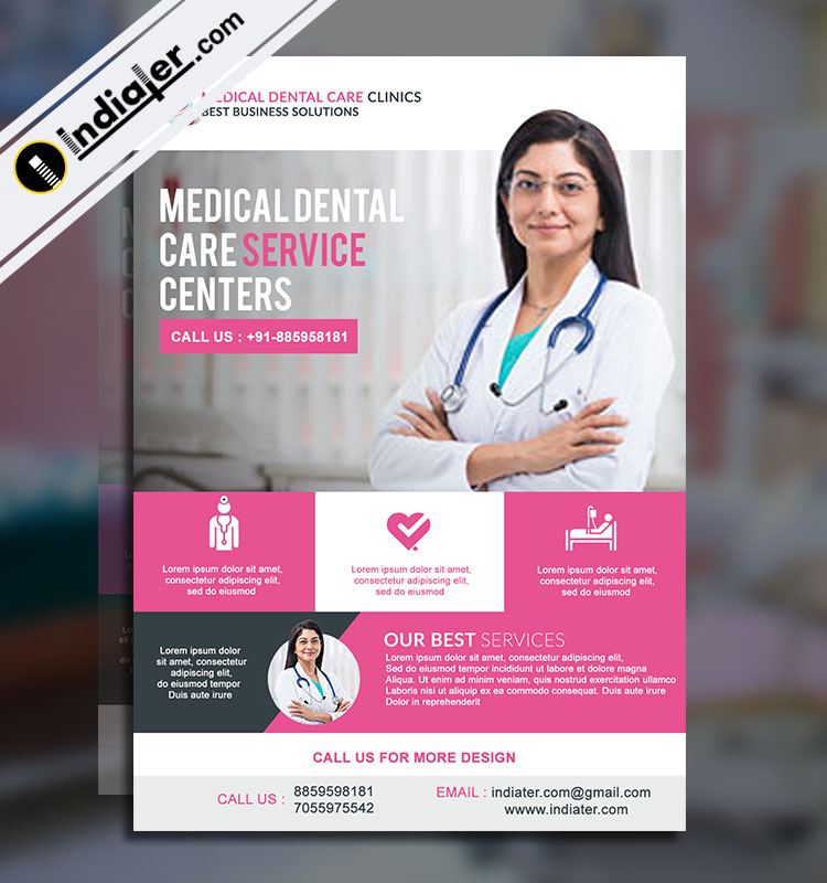 Free Medical  Health Care Flyer PSD Template - Indiater