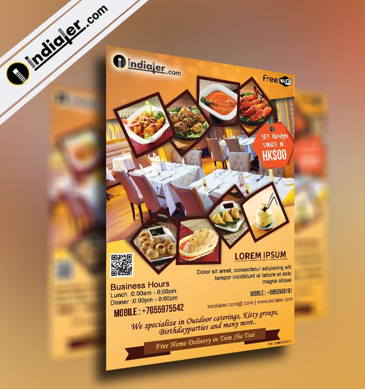 Indiater Restaurants Flyer Template - Indiater