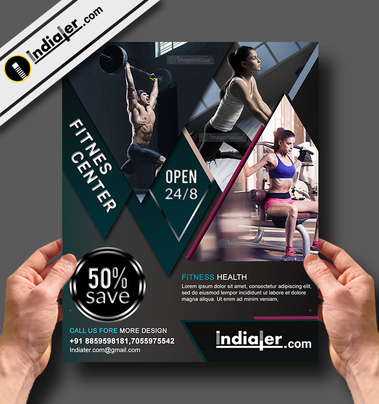 Free Fitness and Gym Offer Flyer PSD Template - Indiater
