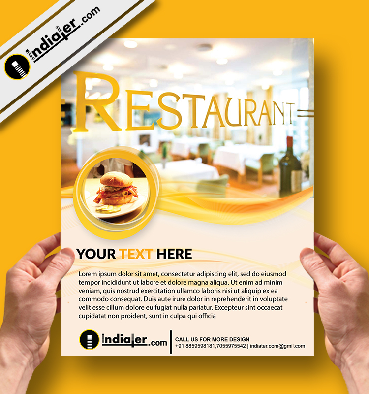 Restaurant Flyer Template v7 - Indiater
