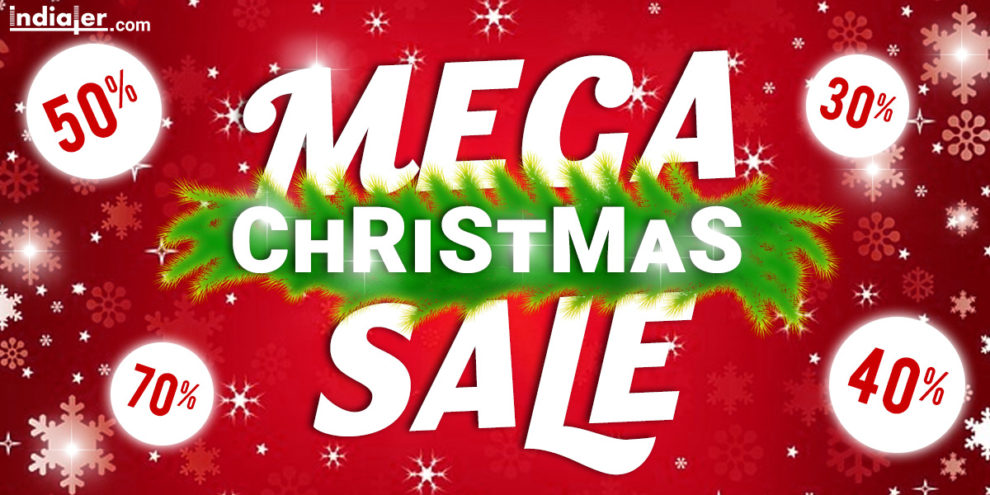 Free Download Merry Christmas Sale Banner Template - Indiater