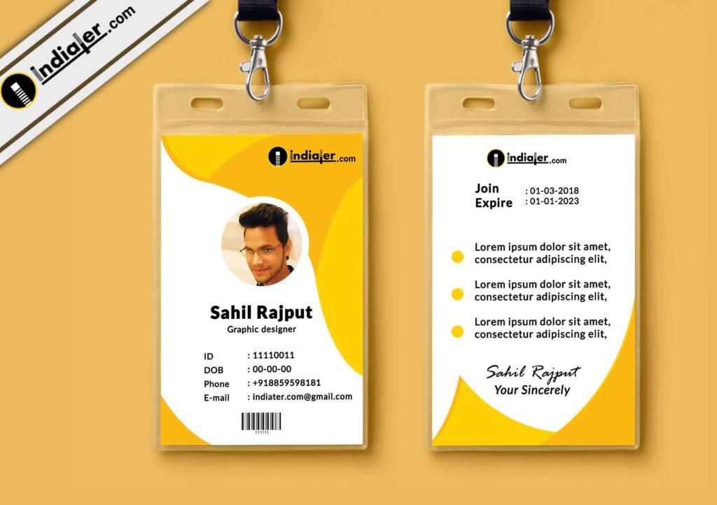 Multipurpose Corporate Office ID Card Free PSD Template - Indiater