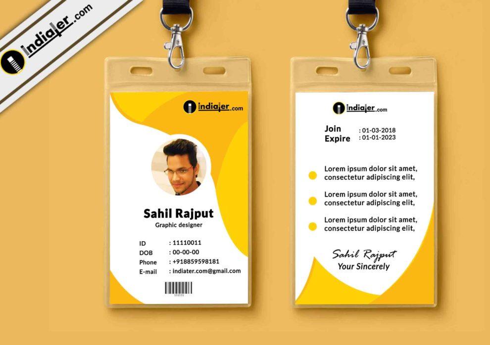 id template free - Josemulinohouse - free id badge templates