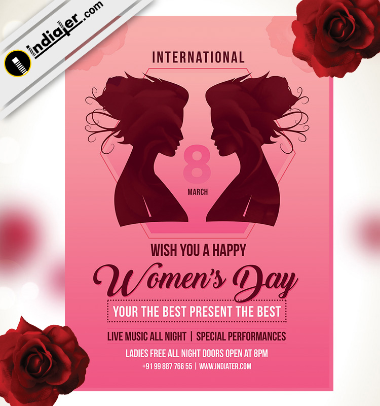 Rajput Wallpaper Hd Download Happy Women S Day Celebration Party Poster Indiater
