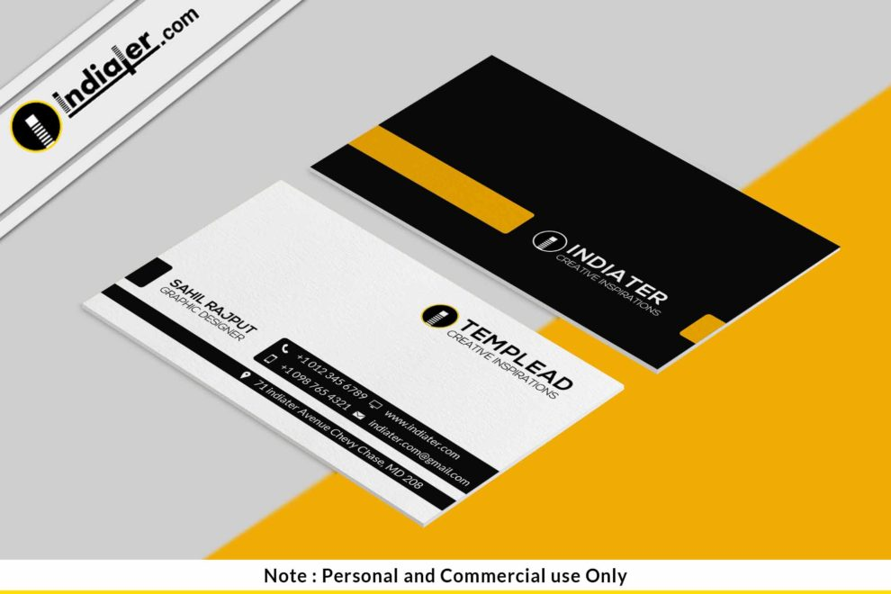 Free Best Accountant Visiting card PSD Template - Indiater