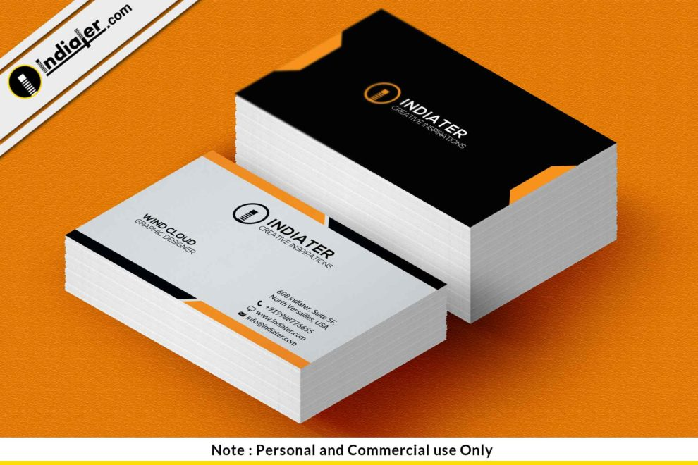 Free Business Card sample template PSD - Indiater