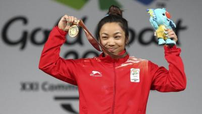 2018 Commonwealth Games: Mirabai Chanu wins gold medal in women's 48 kg weightlifting | INDIA ...