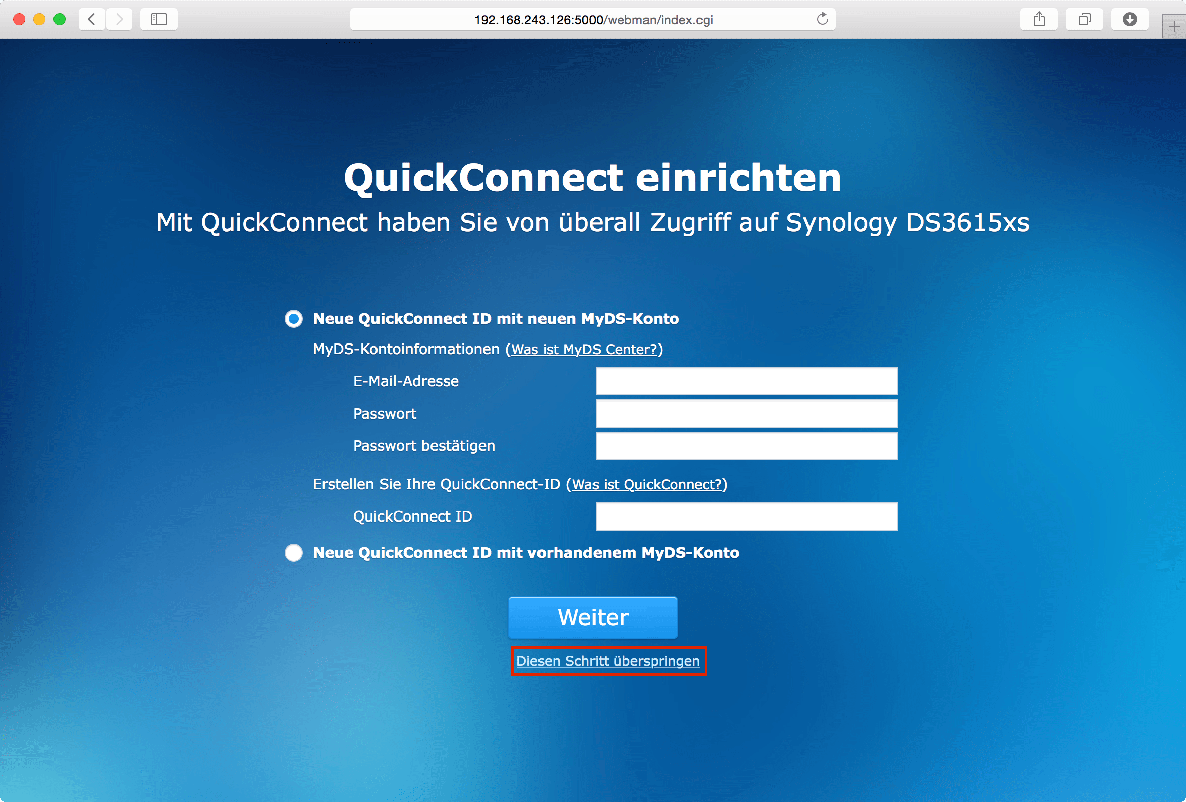 Einrichten Quickconnect Xpenology Dsm 5 2 5565 Update 2 In Virtualbox Installieren