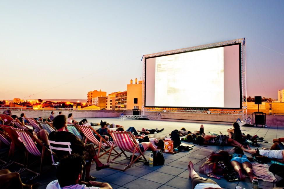 Cinéma en plein air à la Friche