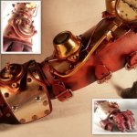 Leather Steampunk Gauntlet – Deadlance