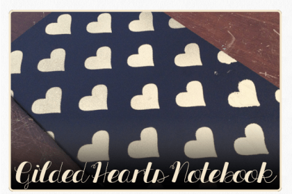 gilded hearts notebook