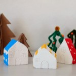 DIY Plaster Paris Christmas Village