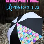 DIY Neon Geometric Umbrella