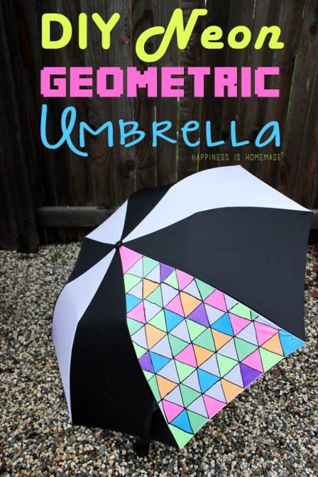 DIY-Neon-Fabric-Painted-Geometric-Umbrella