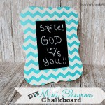 DIY – Mini Chevron Chalkboard