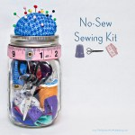 No-Sew Sewing Kit in a Mason Jar