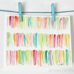 DIY Abstract Stripes Watercolor Art