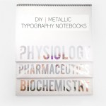 DIY Metallic Typography Notebooks