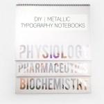 DIY Metallic Typography Notebooks