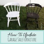 Garage Sale Furniture Makeovers