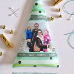 DIY Fabric Photo Newsletter Ornaments