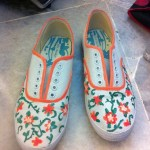 DIY Painted Floral Vine Shoes