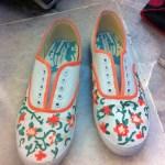 DIY Painted Floral Vine Shoes