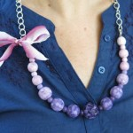 DIY Handpainted Bead Statement Necklace