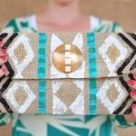 DIY Stamped Tribal Clutch