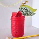 Teacher Appreciation Gift : Apple Mason Jar