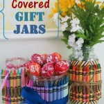 DIY Crayon Covered Jars