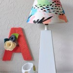 DIY Colorful Painted Lamp Shade