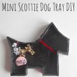 DIY Mini Scottie Dog Decoupage Tray