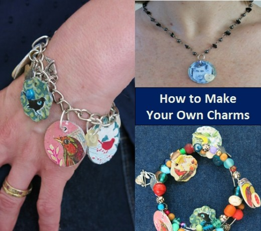 Make jewelry charms from recycled materials indie crafts for Diy using recycled materials