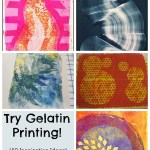 A Round Up of Gelatin Printing Inspiration and Tutorials