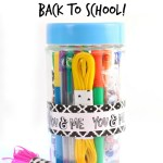 Easy DIY Back To School Art Jar!