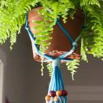 DIY Jersey Macrame Hanging Planter