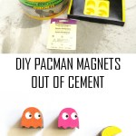 DIY Cement Pacman Magnets